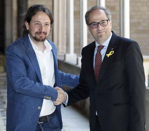 Torra i Iglesias s'han reunit al Palau de la Generalitat durant prop d'una hora.
