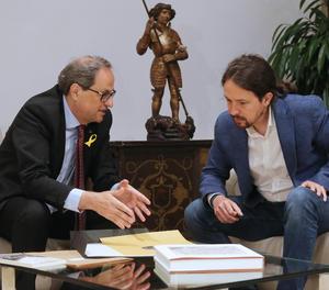 Torra i Iglesias s'han reunit al Palau de la Generalitat durant prop d'una hora