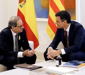 Sánchez i Torra acorden convocar comissió bilateral Estat-Catalunya