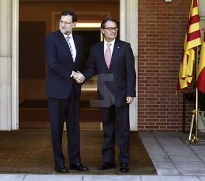 Trobada entre Rajoy i Artur Mas
