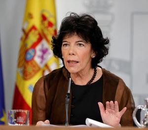 La ministra Isabel Celaá després del Consell de Ministres.