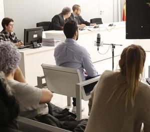 Imatge d'arxiu del raper Valtonyc durant el judici a l'Audiència Nacional