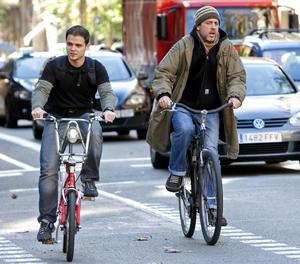 Un carril bici de Barcelona