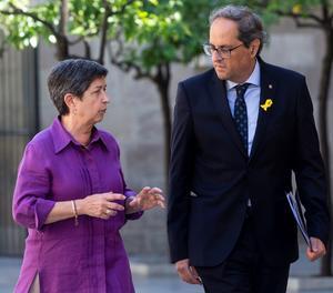 El president de la Generalitat, Quim Torra, i la delegada del