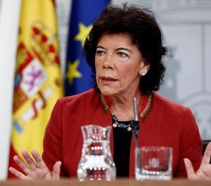 La portaveLa portaveu del Govern i ministra d'Educació, Isabel Celaá.u del Govern i ministra d'Educació, Isabel Celaá.