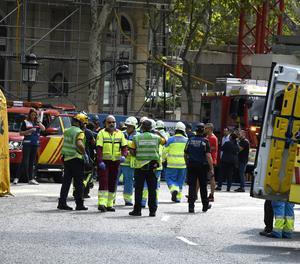 Un mort i onze ferits en un ensorrament a les obres de l'hotel Ritz de Madrid