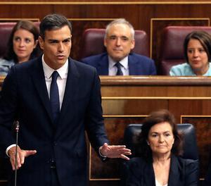Sánchez, durant la sessió de control de l'Executiu.