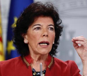La portaveu del Govern, Isabel Celaá.