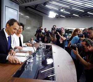 La roda de premsa posterior a la reunió del Consell de Ministres.