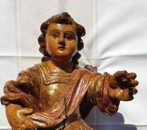 Imatge de la recuperada talla barroca després de ser restaurada.