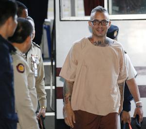 Artur Segarra, a l'arribada al tribunal que el va jutjar l'abril del 2017.