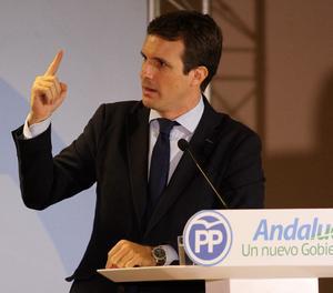 El líder del PP, Pablo Casado,