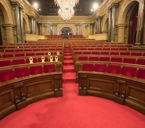 Vista de l'hemicicle del Parlament.