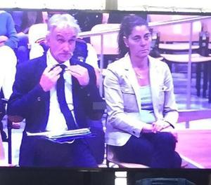 El pare i la mare de la Nadia, aquest dimarts al matí a l'Audiència de Lleida.