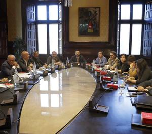 La reunió de la Mesa del Parlament.