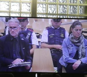 Fernando Blanco i Margarita Garau, aquest divendres a l'Audiència de Lleida.