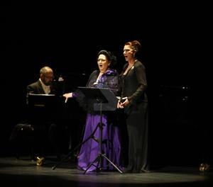 Montserrat Caballé en una actuació a la Llotja de Lleida