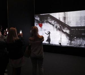 Imatge d'arxiu de l'obra de Bansky que va ser subhastada a Londres.