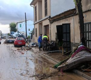 Un carrer de Sant Llorenç des Cardassar aquest dimecres.