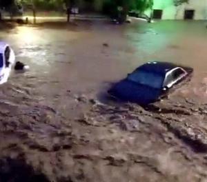 Les inundacions que van afectar ahir la localitat de Sant Llorenç des Cardassar.