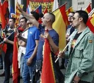 Ultres i antifeixistes es manifesten en diferents punts de Barcelona