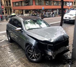 El cotxe accidentat.