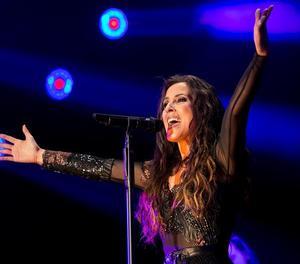La cantant Malú, al concert a Màlaga divendres a la nit.