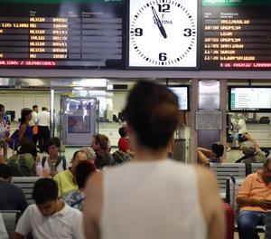 Una estació de tren.
