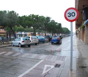 Una 'zona 30' a Mollerussa.
