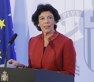 La ministra d'Educació i portaveu del Govern espanyol, Isabel Celáa.