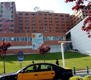 Vista general de la façana principal de l'Hospital Vall d'Hebron de Barcelona