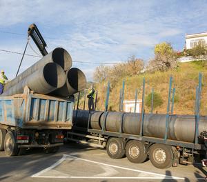 Tubs de revestiment transportats per als túnels.