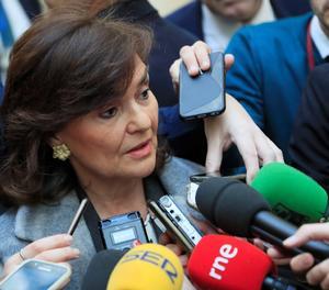 La vicepresidenta del Govern, Carmen Calvo.