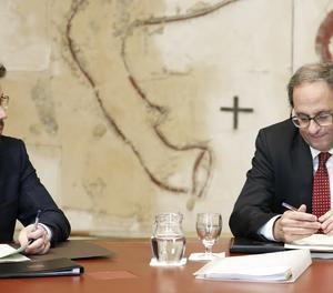 El president de la Generalitat, Quim Torra, i el vicepresident, Pere Aragonès.