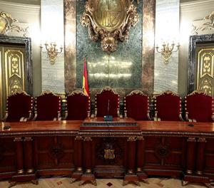 La sala del Tribunal Suprem