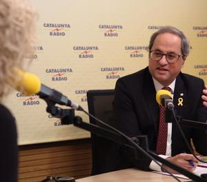 Torra, durant l'entrevista a Catalunya Ràdio aquest matí.