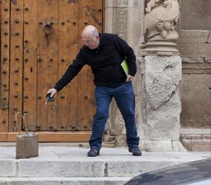 Josep Maria Font, dimecres passat a Sant Martí de Maldà abans d'anunciar la renúncia.