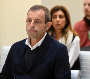 Rosell, ahir en la primera jornada del judici que es duu a terme contra ell a l'Audiència Nacional.
