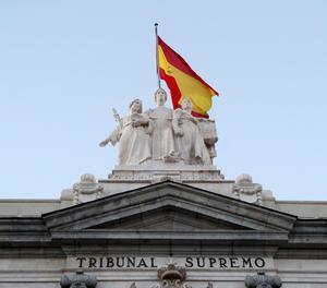 Detall de la façana del Tribunal Suprem