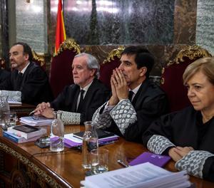 Els magistrats del judici del 'procés' al Suprem.