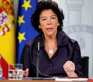 La portaveu del Govern espanyol, Isabel Celáa.