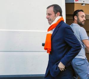 El expresidente del Fútbol Club Barcelona Sandro Rosell, a su llegada a la Audiencia Nacional en Madrid,