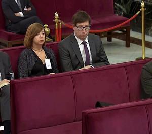 Un moment de la sessió d'aquest dimarts al judici del 'procés' al Suprem.
