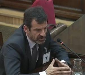 Ferran López durant la seua declaració al suprem com a testimoni.