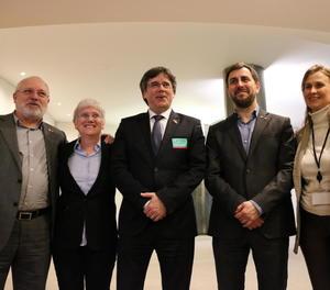 Ponsatí, Puigdemont i Comín, els tres candidats vetats, en una imatge d'arxiu.
