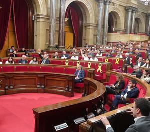 Imatge d'arxiu d'un ple del Parlament