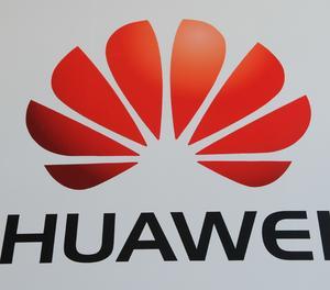 El logotip de Huawei.