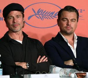 Brad Pitt i Leonardo DiCaprio, ahir al festival de Canes.