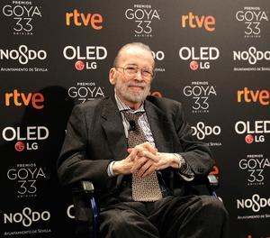 El director de cinema Narciso Ibáñez Serrador, 'Premi d'Honor' en la 33 edició dels premis Goya de la Academia de Cine.