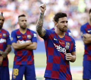 El Barça viatja als Estats Units sense Messi, lesionat en l'entrenament